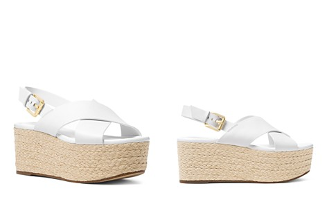 MICHAEL Michael Kors Jodi Leather Platform Wedge Espadrille Sandals - Bloomingdale's_2